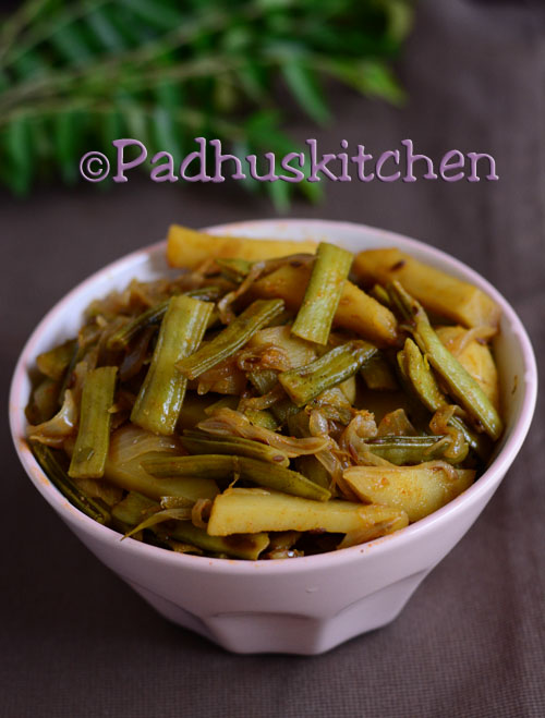 Gawar Sabzi-Cluster Beans Potato Curry
