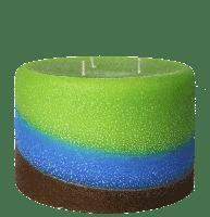 Pillar Candle, Raindance scent, Armadilla Wax Works