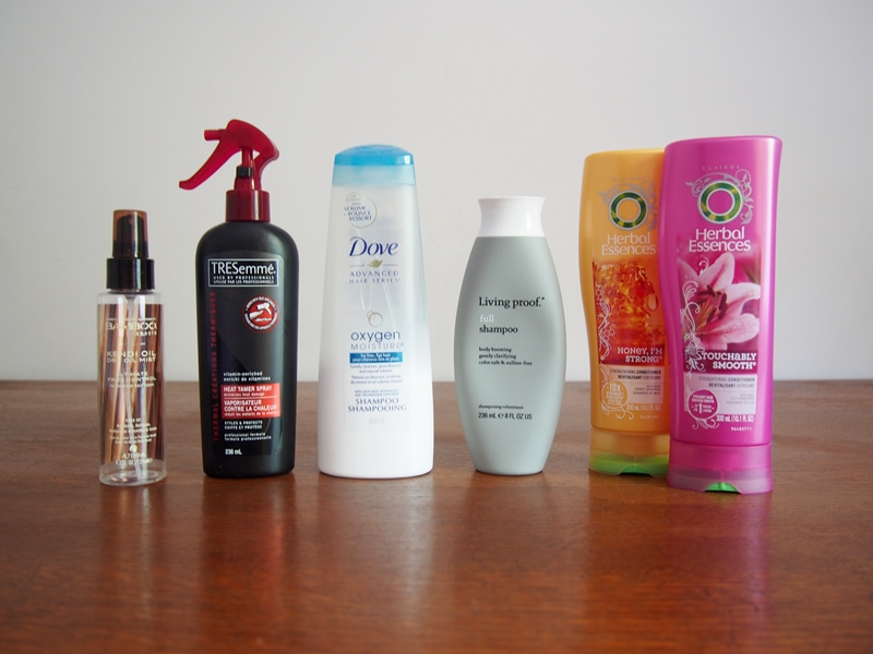 empty haircare products