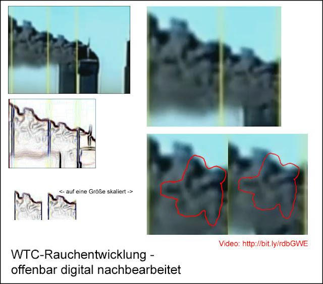 Rauchverdopplung WTC fake smoke