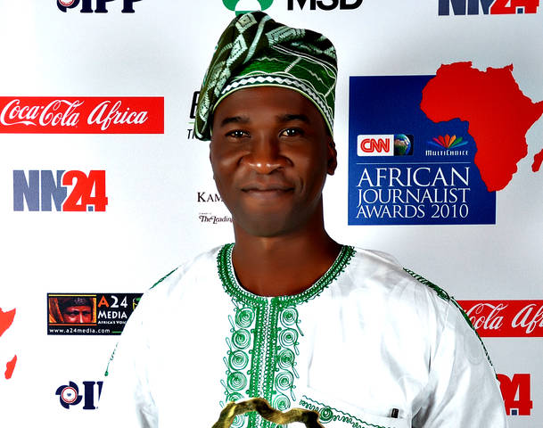 NIGERIAN PELU AWOFESO WINS TOURISM AWARD AT CNN MULTICHOICE AFRICAN JOURNALIST AWARDS 2010 Photo: All Voices