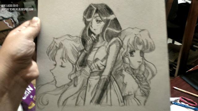 Dibujo a lápiz con referencia de satoshi urushihara