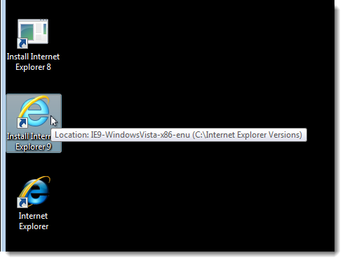 Using Internet Explorer 9 with Windows Vista