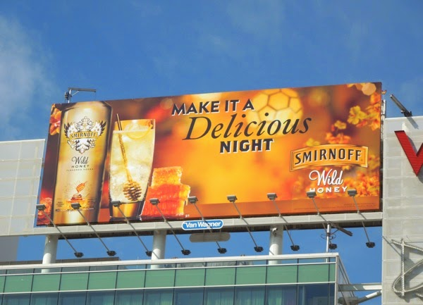 Smirnoff Wild Honey Vodka billboard