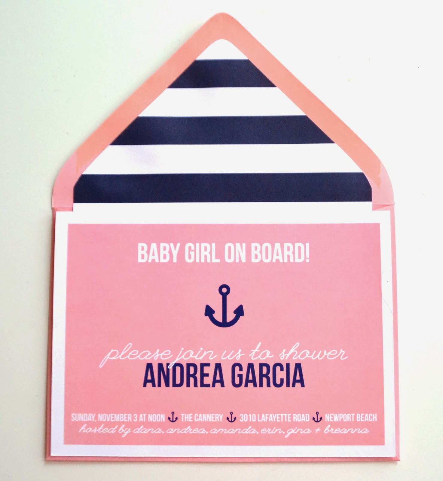 paper whites nautical themed baby shower invitations