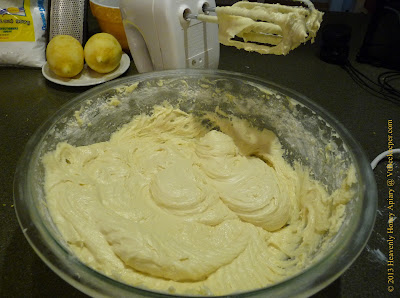Honeycomb cake batter image
