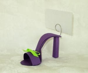 if the shower includes a sit down meal you can assign seating using our gorgeous shoe place card holders they come in a large assortment of colors