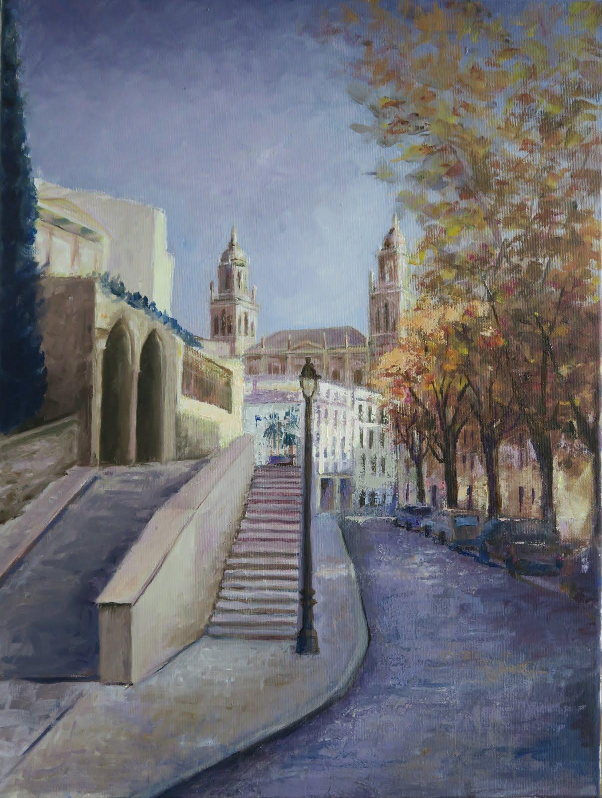 La catedral desde la Carrera de Jesús; Jaén (12P)