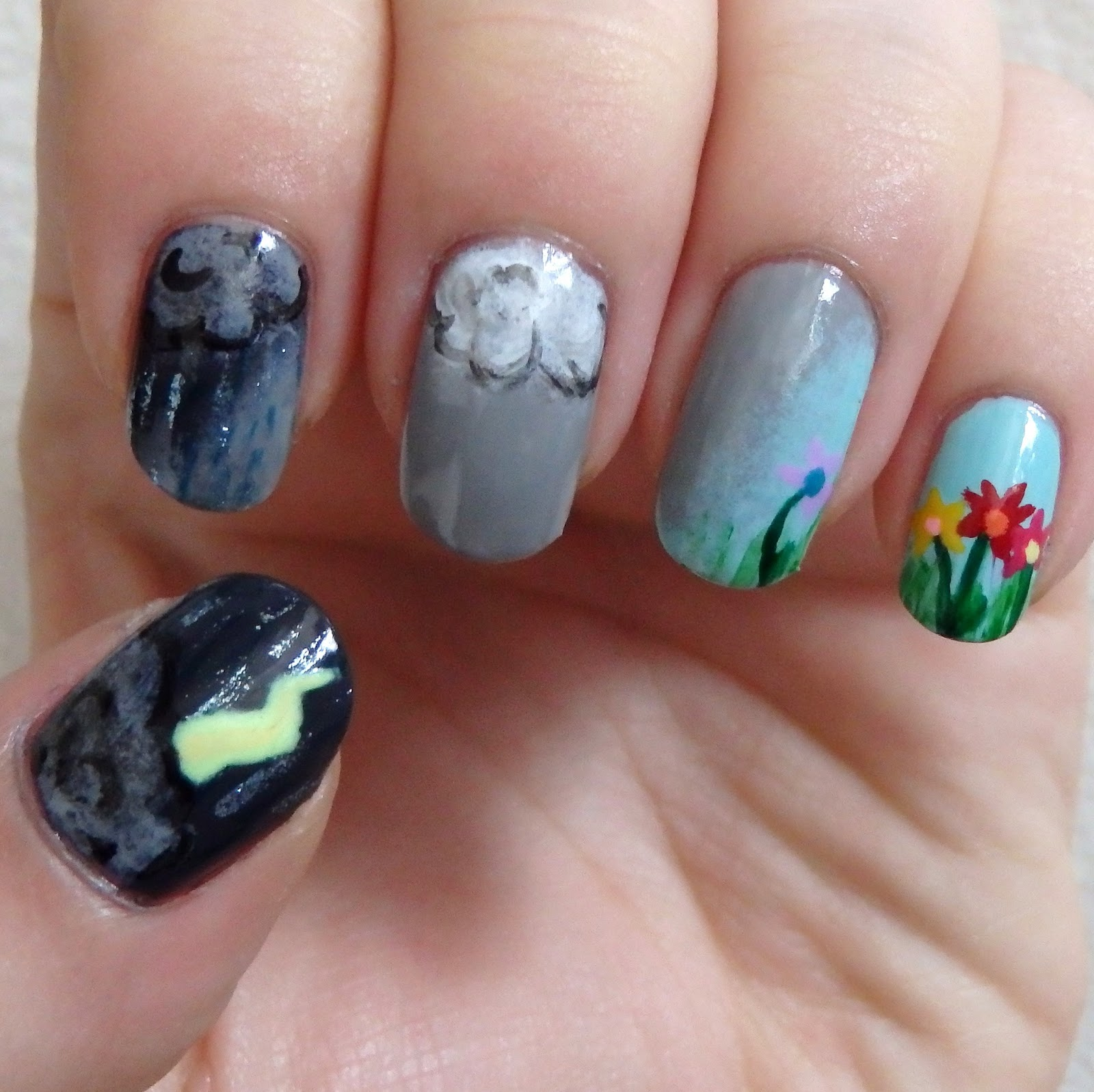 Nail Ideas For April: April Showers Bring May Flowers
