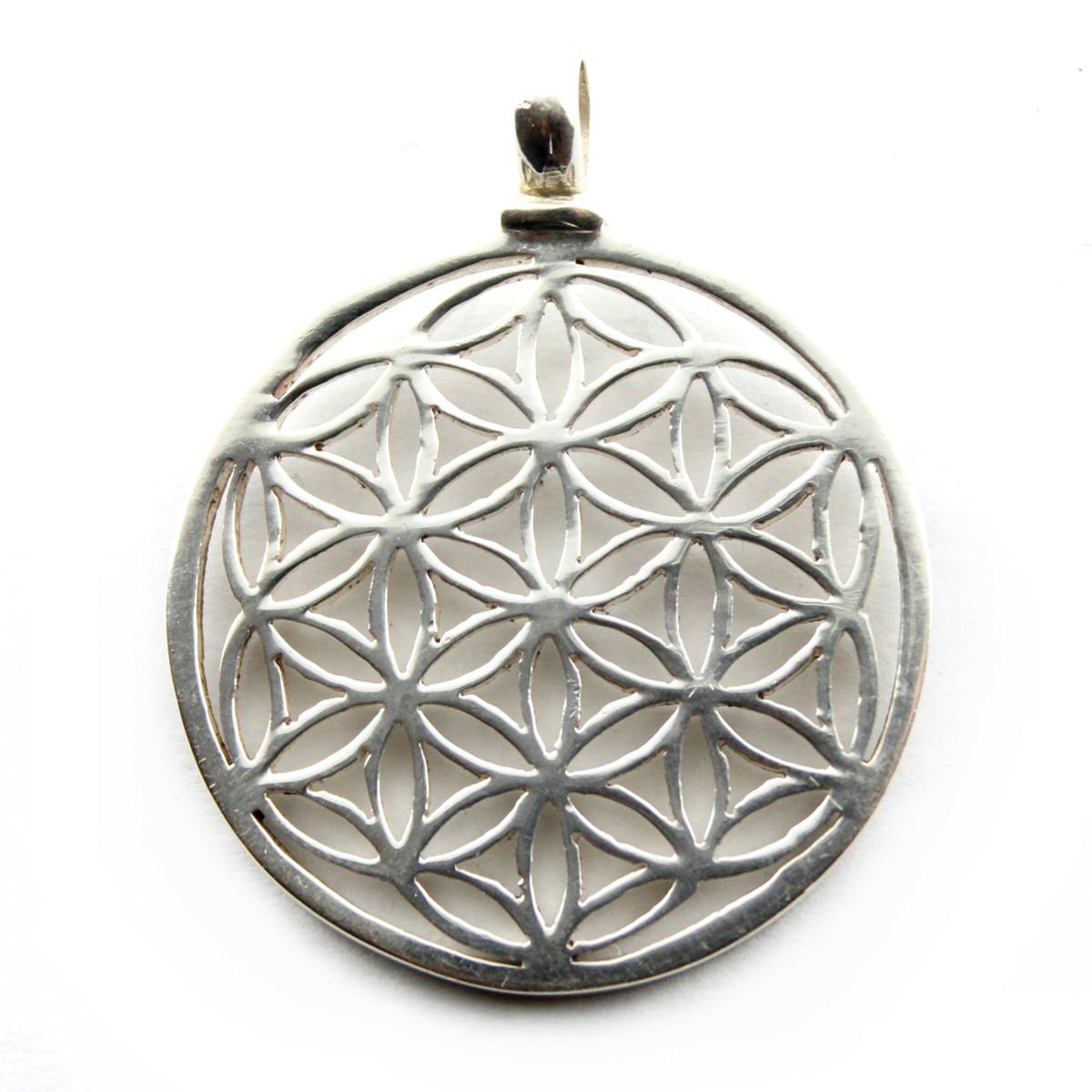 Blume des Lebens Silberanhänger aus 925 Sterling Silber