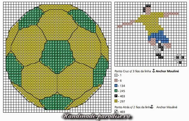 Схемы вышивки футболиста и