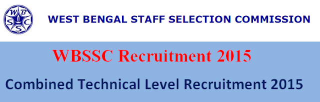 WBSSC Recruitment 2015