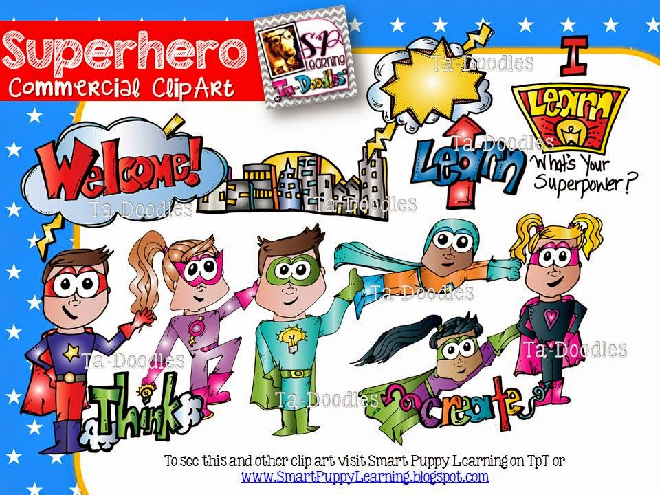 http://www.teacherspayteachers.com/Product/Superhero-Commercial-Clip-Art-1367550