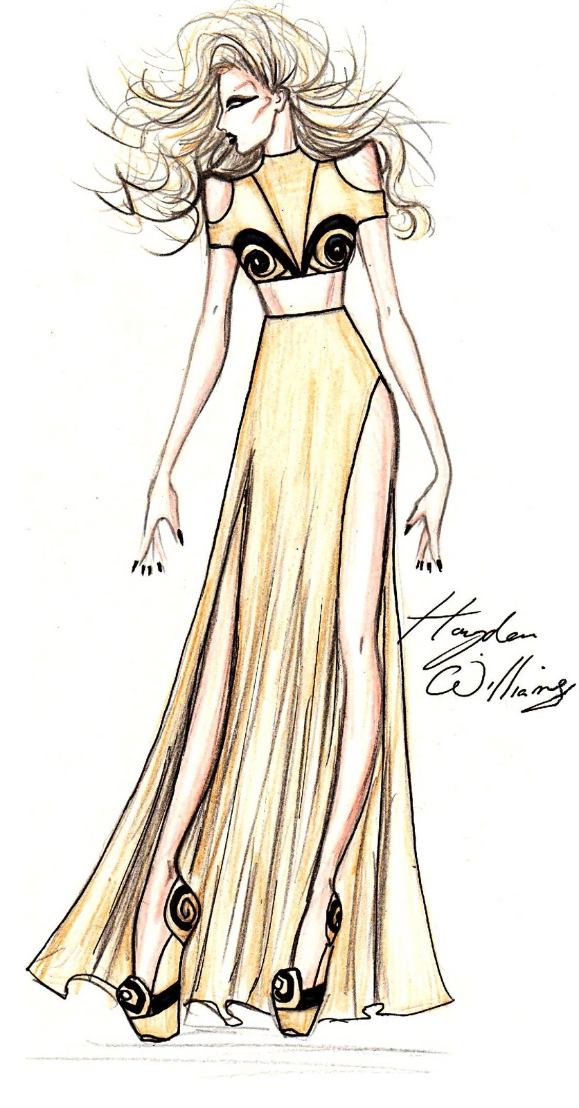 Hayden Williams Fashion Illustrations  Lady Gaga