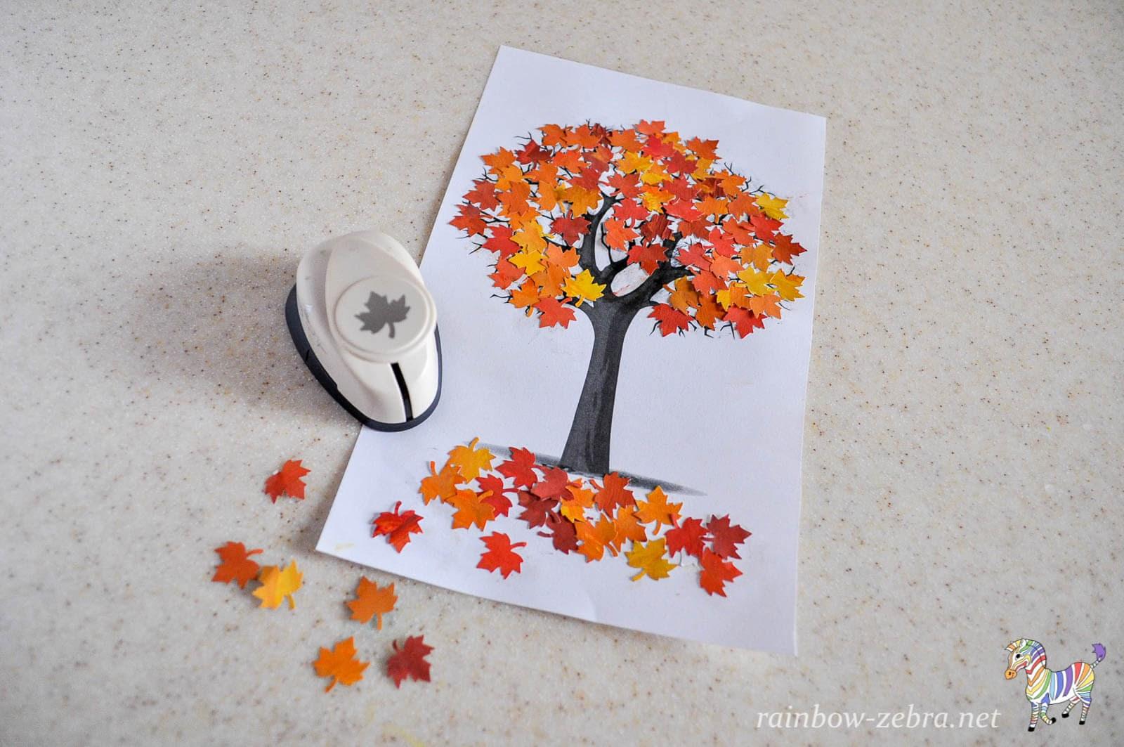 Аппликация из цветной бумаги на тему Осень: пошаговые 11