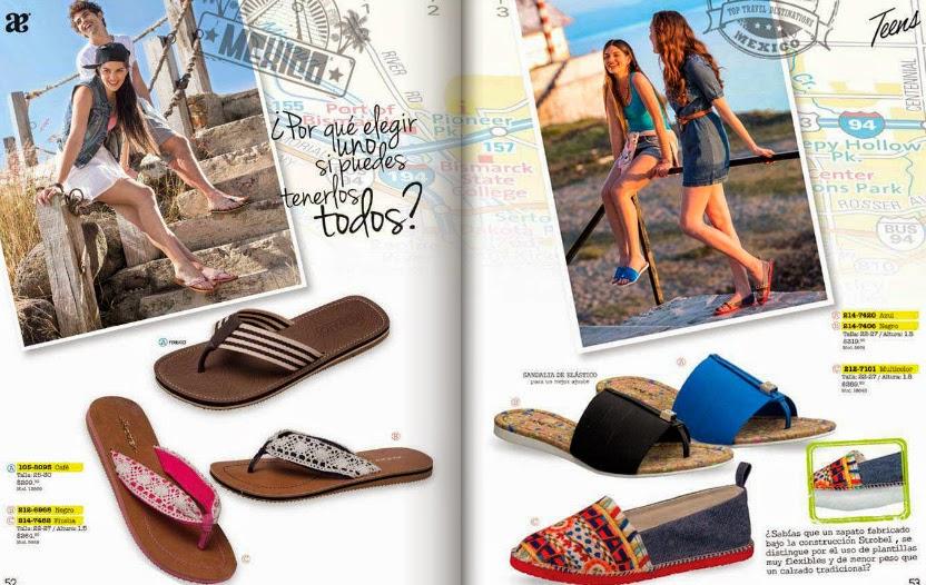 Catalogo zapato Andrea teens  primavera  2015