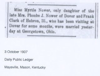 Marriage of Frank Clark and Ella Myrtle Nower