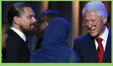 Clinton premia a DiCaprio por su labor medioambiental
