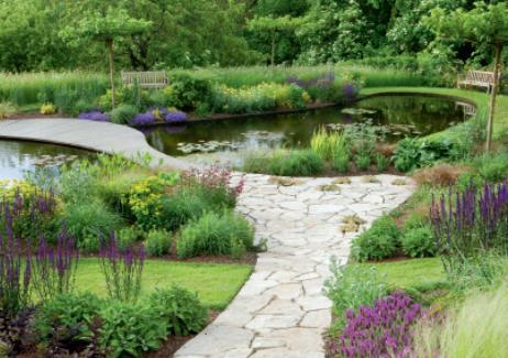 contemporary english garden design english garden. Black Bedroom Furniture Sets. Home Design Ideas