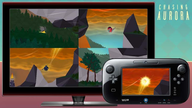 Wii U eShop game Chasing Aurora being played by 5 players simultaneously