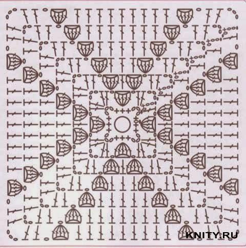 Схема вязания бабушкиного квадрата фото 581
