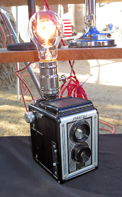 Lamp made out of old camera