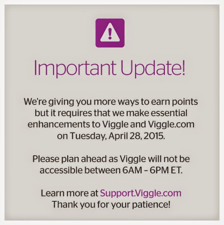 Viggle Update, Viggle Mom, Viggle Down Time, Viggle, April 28 2015