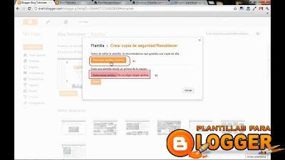 Como cambiar una plantilla en blogger paso 4