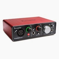 Interfaccia audio Scarlett Solo di Focusrite per Mac e Win