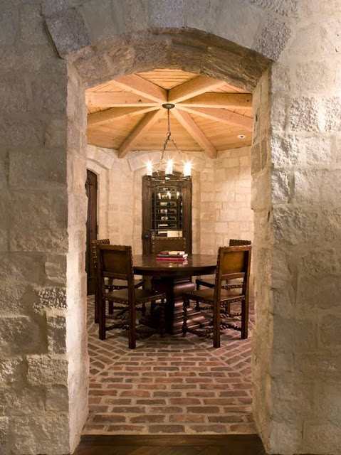Roses and rust raw beauty brick floors for Wine cellar in floor