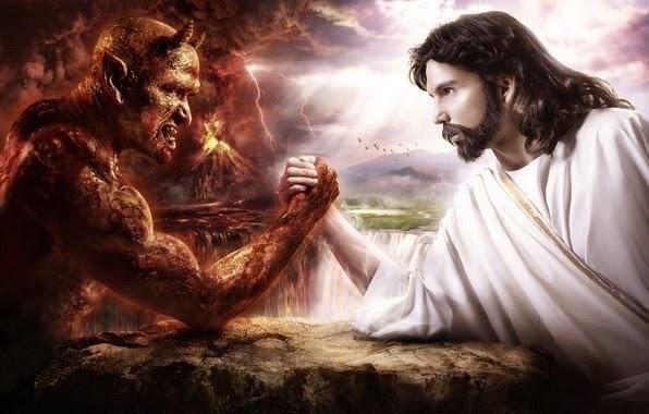 ein Engel und Teufel