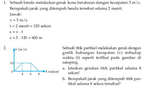 berikut adalah contoh soal gerak lurus beraturan glb dan gerak lurus