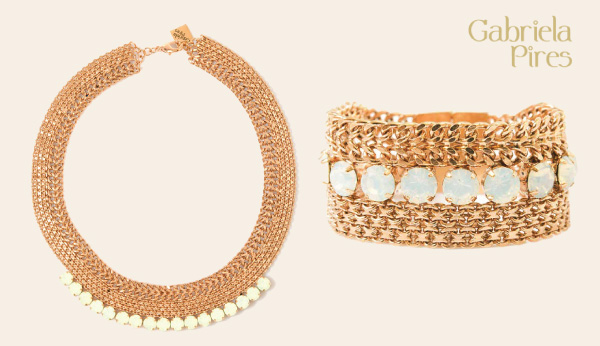 semi-joias Gabriela Pires - bijuterias finas folheadas a ouro, pedras naturais e cristais Swarovski