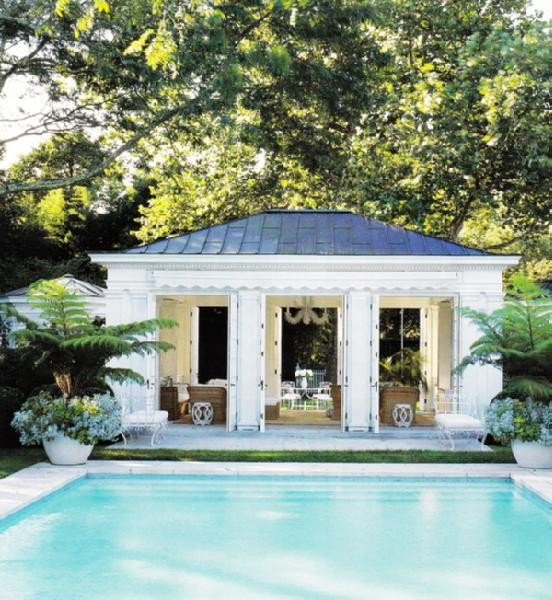 Vignette design tuesday inspiration pool houses caba as for Garden cabana designs