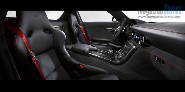 Interior do novo Mercedes-Benz SLS AMG Black Series 2014