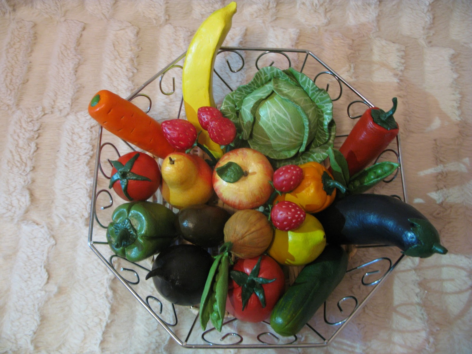Солёное тесто поделки овощей 979