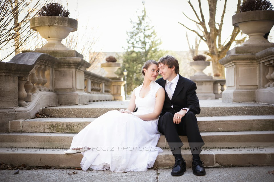 photo of bride and groom in Terre Haute, IN