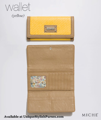 Miche Yellow Wallet