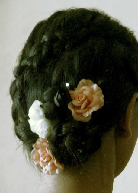 Dutch Lace Braid, Flower Spiral Braided Hair Style