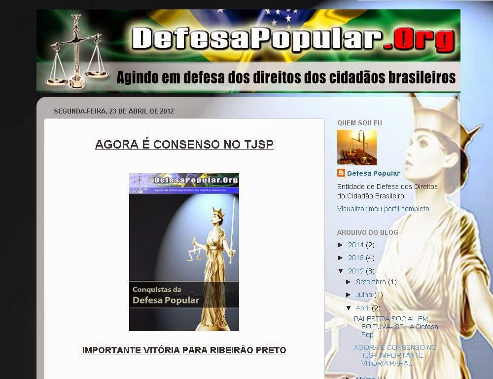 TJSP - TRIBUNAL DE JUSTIÇA DE SP ADERE AO ENTENDIMENTO DO STJ E DO STF