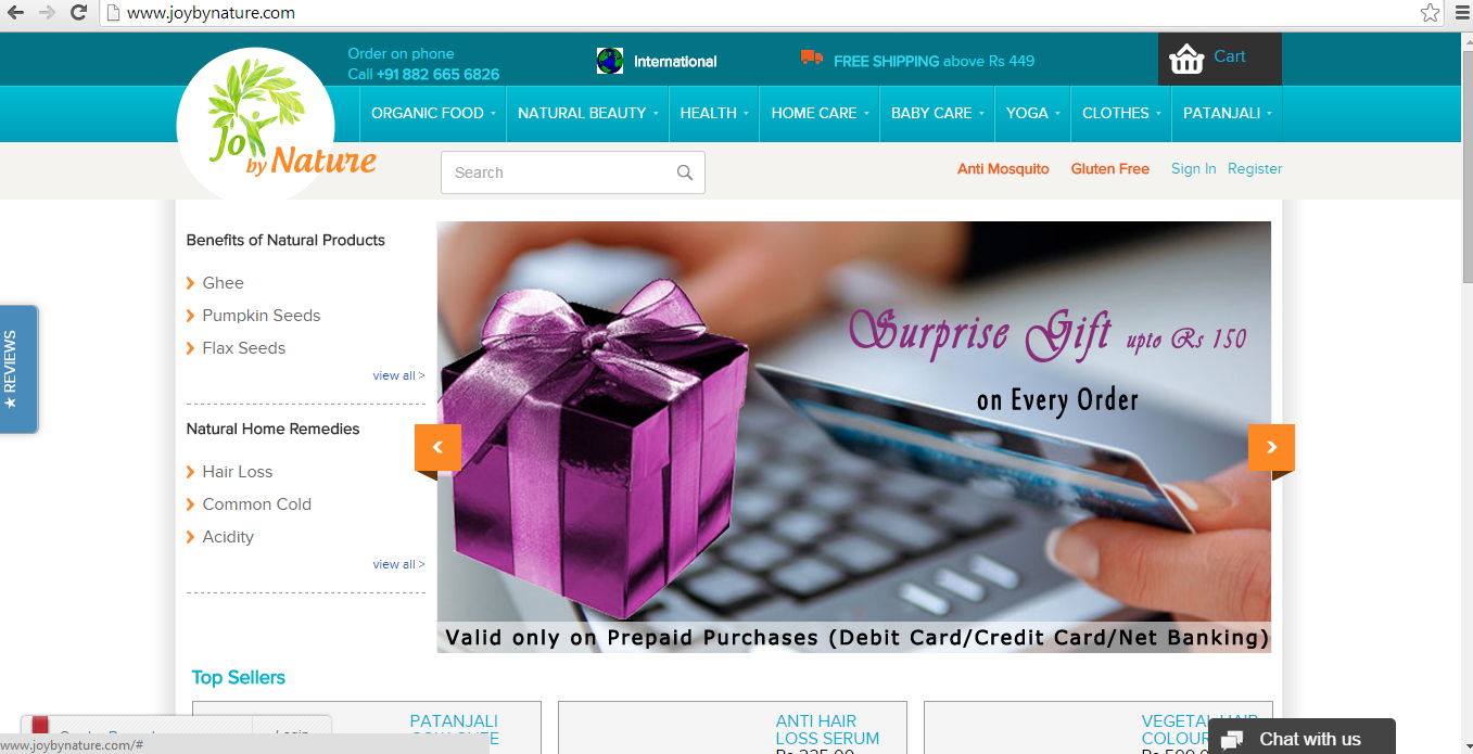 Shopping site JoybyNature.com Review