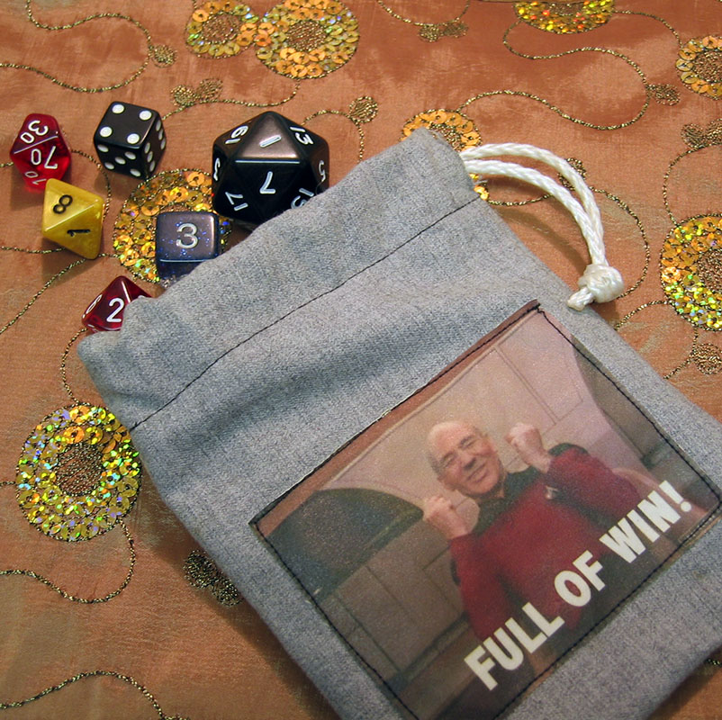knit fish: Sew Geeky - how to make a dice bag