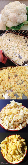 "Cauliflower ""Popcorn"" - A savory Side Dish or Sweet Snack"