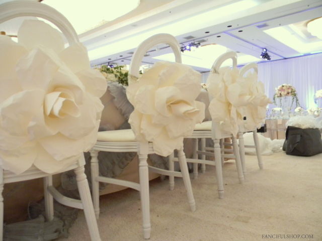 Client wedding beautiful paper flower backdrop fanciful designs our flowers are made with premium 100 french cotton paper mightylinksfo