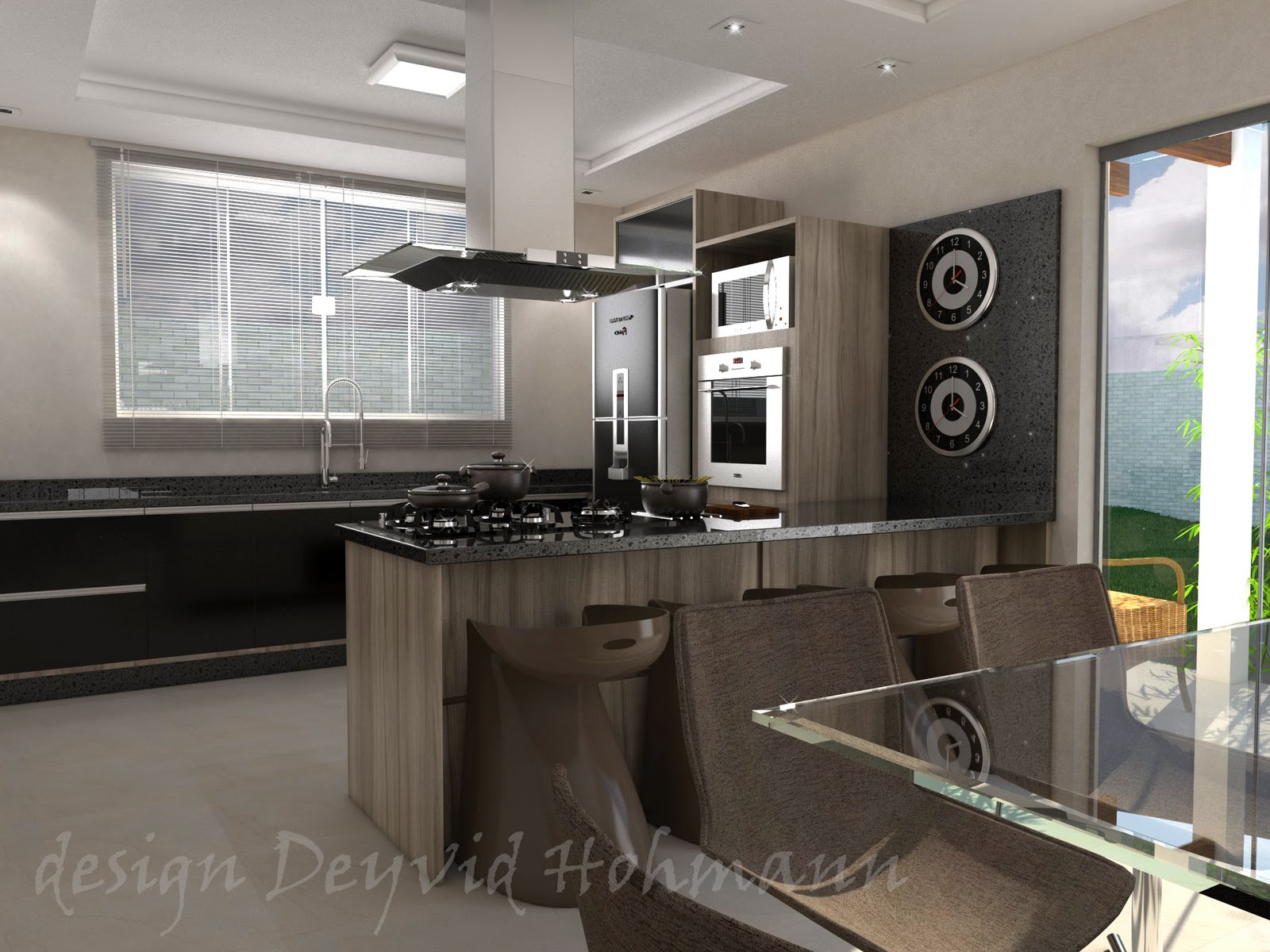 Pruzak Com Sala De Tv Conjugada Com Sala De Jantar E Cozinha