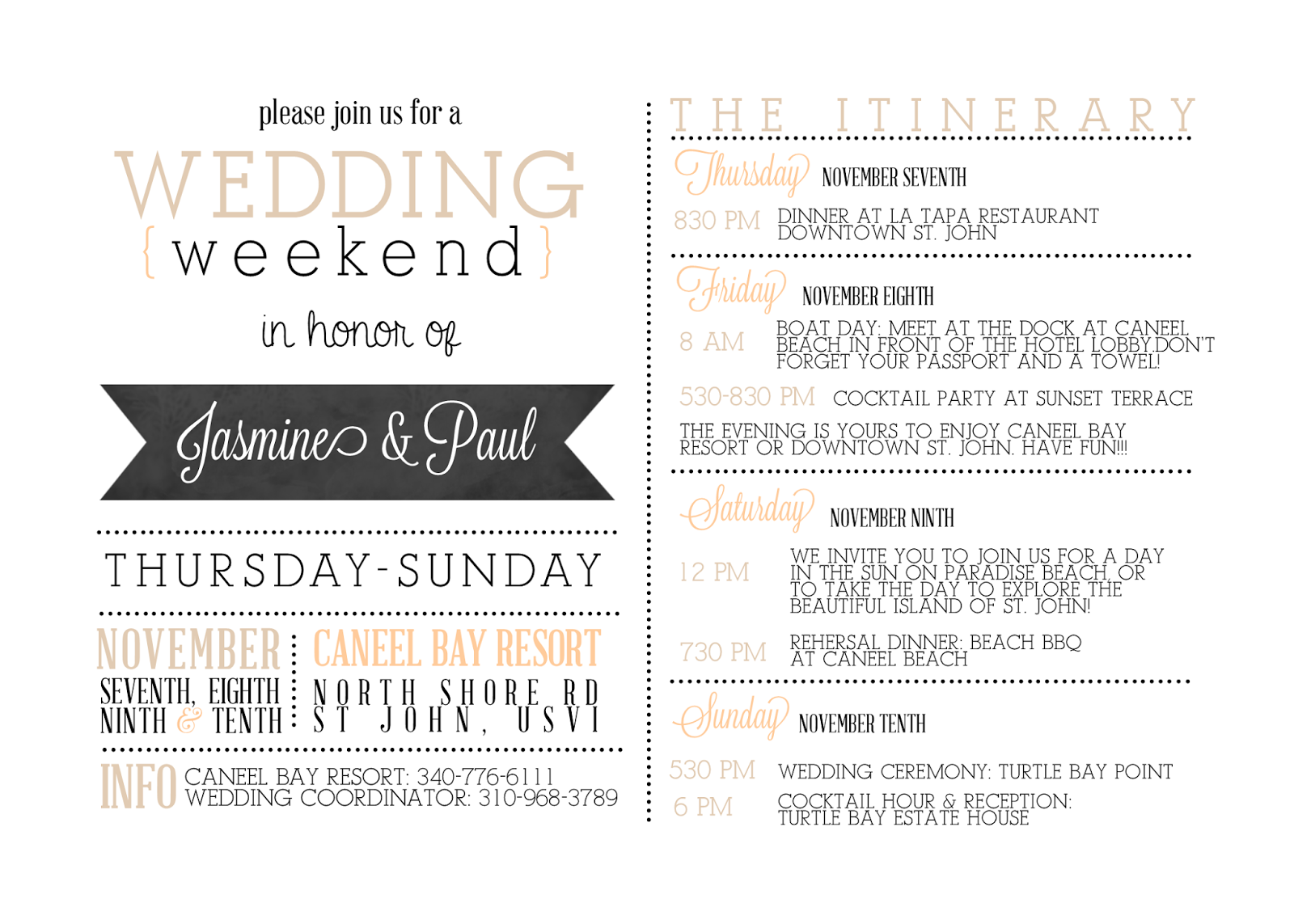 Weekend Getaway Invitation with awesome invitations layout