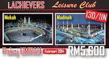 i.ACHIEVERS akan membuat Pakej UMRAH & ZIARAH ke Mekah & Madinah.