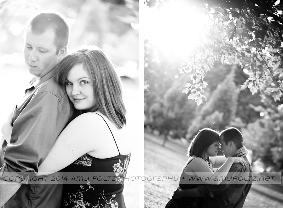 romantic photos of couple in Terre Haute, Indiana