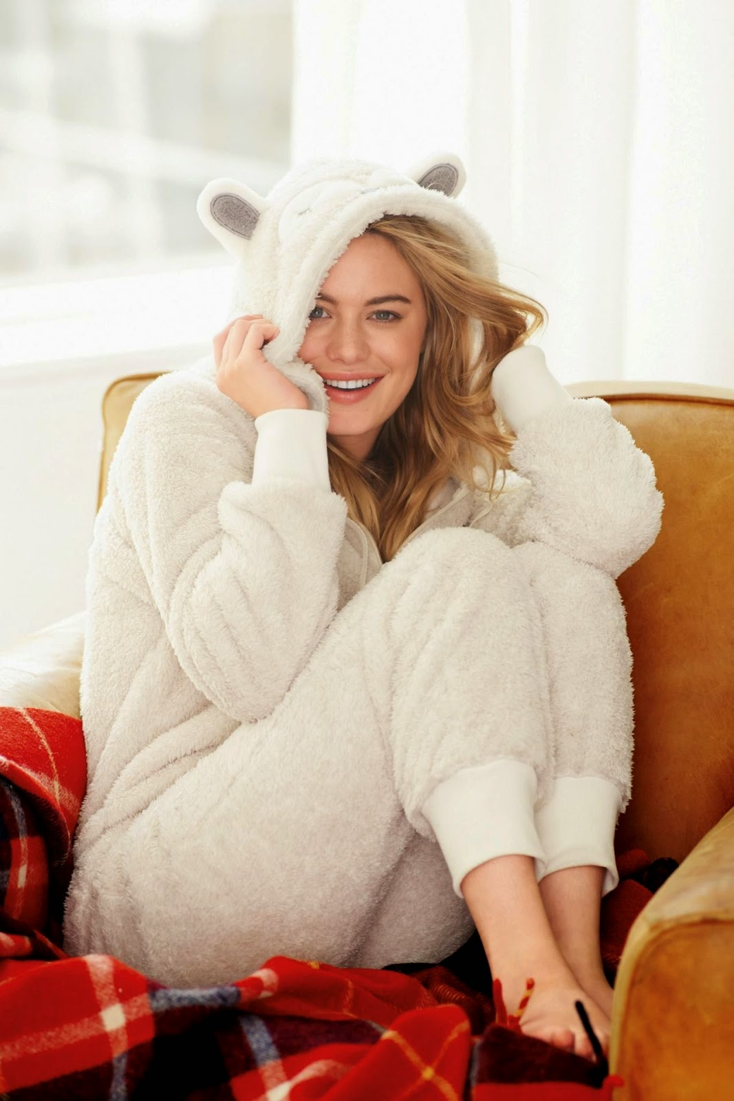 Next Sleepwear Fall/Winter 2014 Lookbook starring Camille Rowe