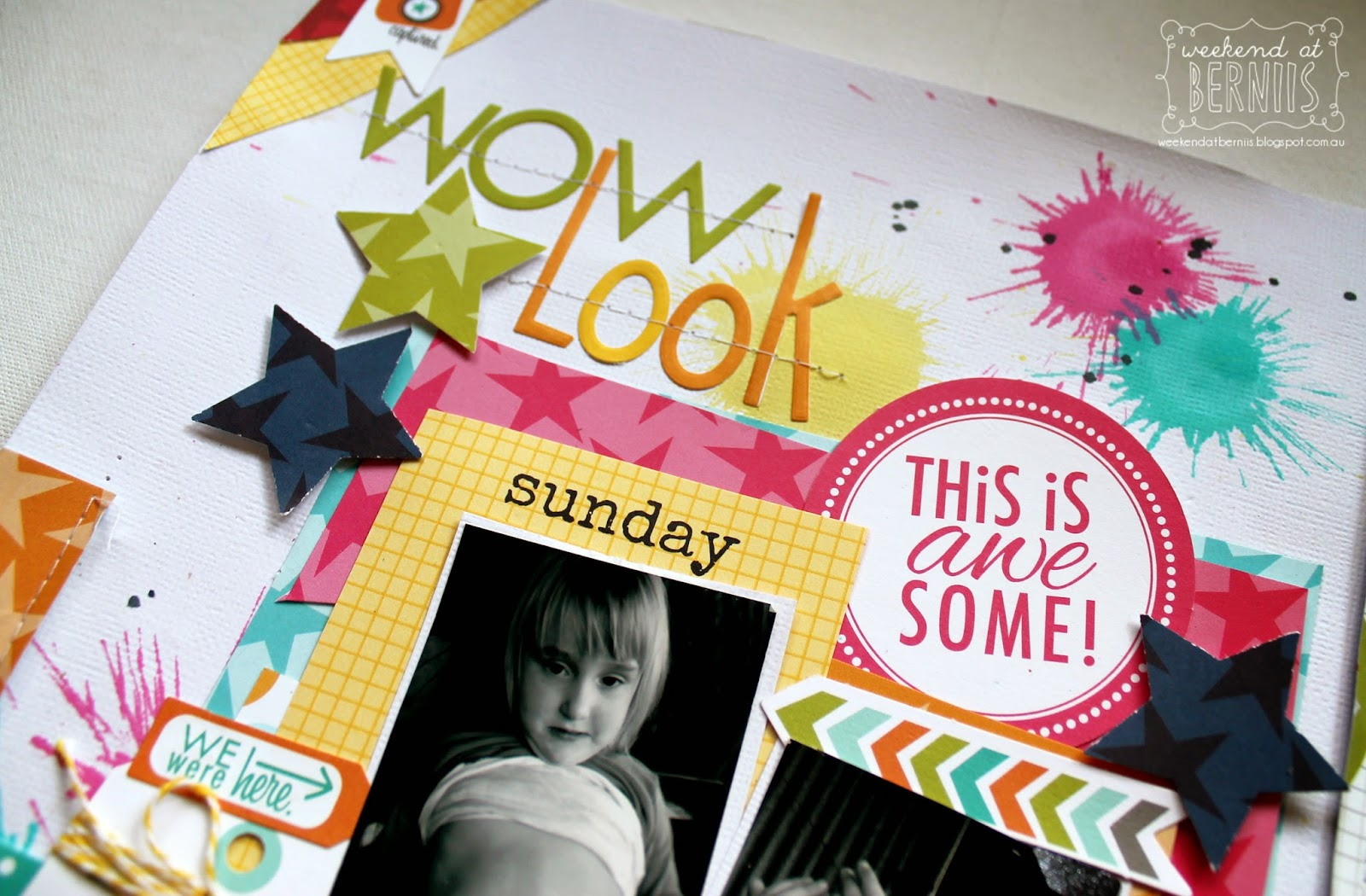 WOW LOOK layout by Bernii Miller using Bella Blvd papers.